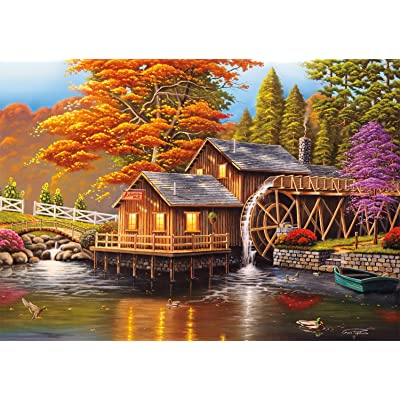 Buffalo Games - Adam\'s Mill - 300 Large Piece Jigsaw Puzzle: Toys & Games [5Bkhe0401108]