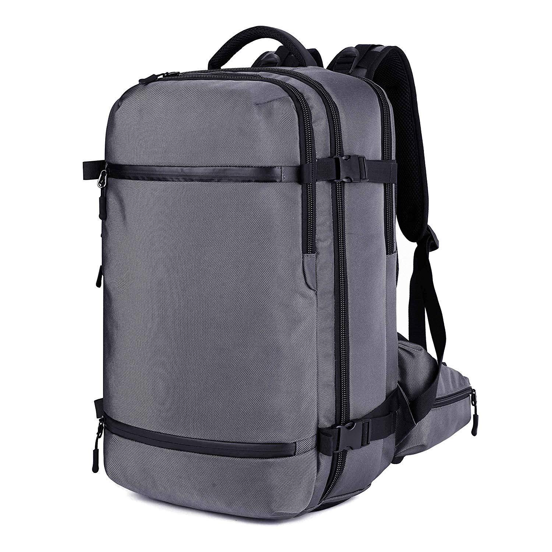 GSele Reise-Rucksack, Vintage-Canvas, Wanderrucksack, Schultertasche, 38,1 cm (15 Zoll) Laptoprucksack, 3-in-1, Schwarz B07NBH3TX7 Daypacks Mode Vitalität