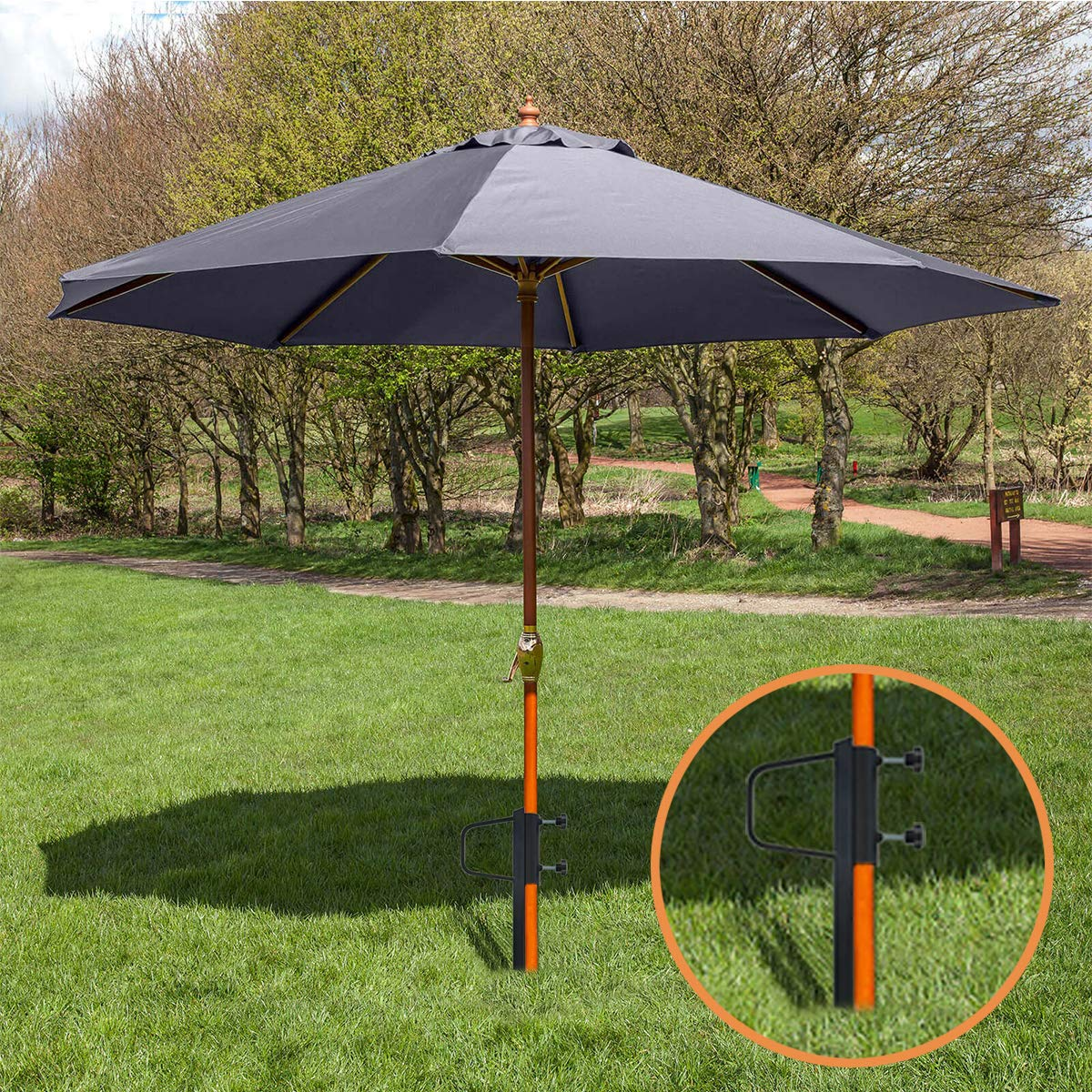 40676474fd03 Foozet Outdoor Beach Umbrella Sand Anchor Stand Heavy Metal
