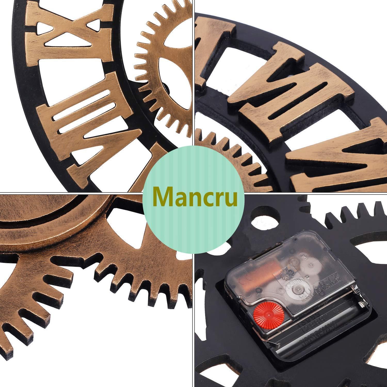 Mancru Équipement 3D Industriel Horloge Murale Ronde Grande Taille en Style  Vintage muet Horloge Murale 15-40cm de diamètre  Amazon.fr  Cuisine   Maison 4b2b9eb1a178