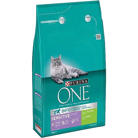 Purina ONE BIFENSIS Sensitive Katzentrockenfutter: reich an Truthahn & Reis, hohe Verträglichkeit bei Katzen mit empfindliche