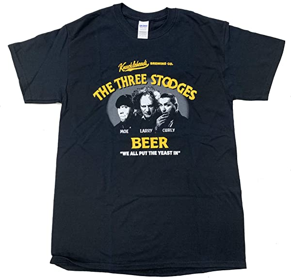 Three 3 Stooges Beer Tshirt Knucklehead Brewing Company T