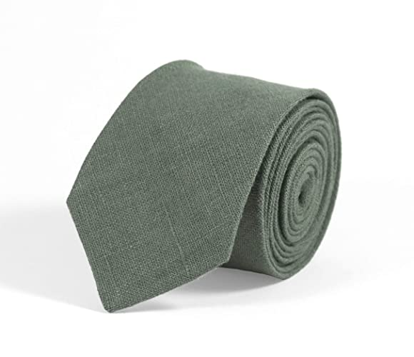 9676d18abdcf Pine green linen skinny wedding necktie for groomsmen available with  matching pocket square/forest green bow ties and neckties for men and kids/pine  forest ...
