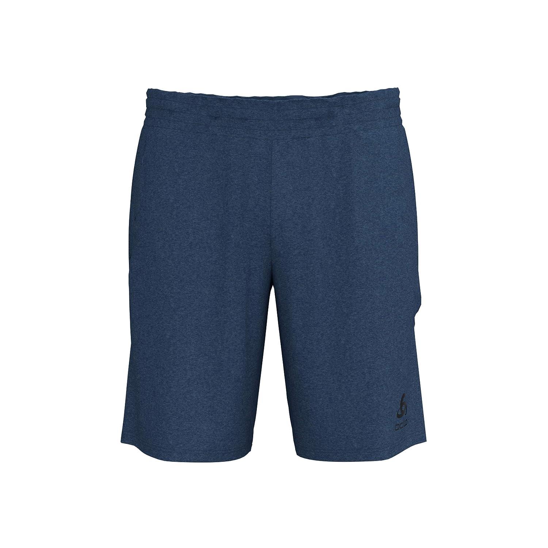 Odlo Herren Millennium Linencool Pro Split Shorts Laufbekleidung Shorts Blau - Weiß XXL