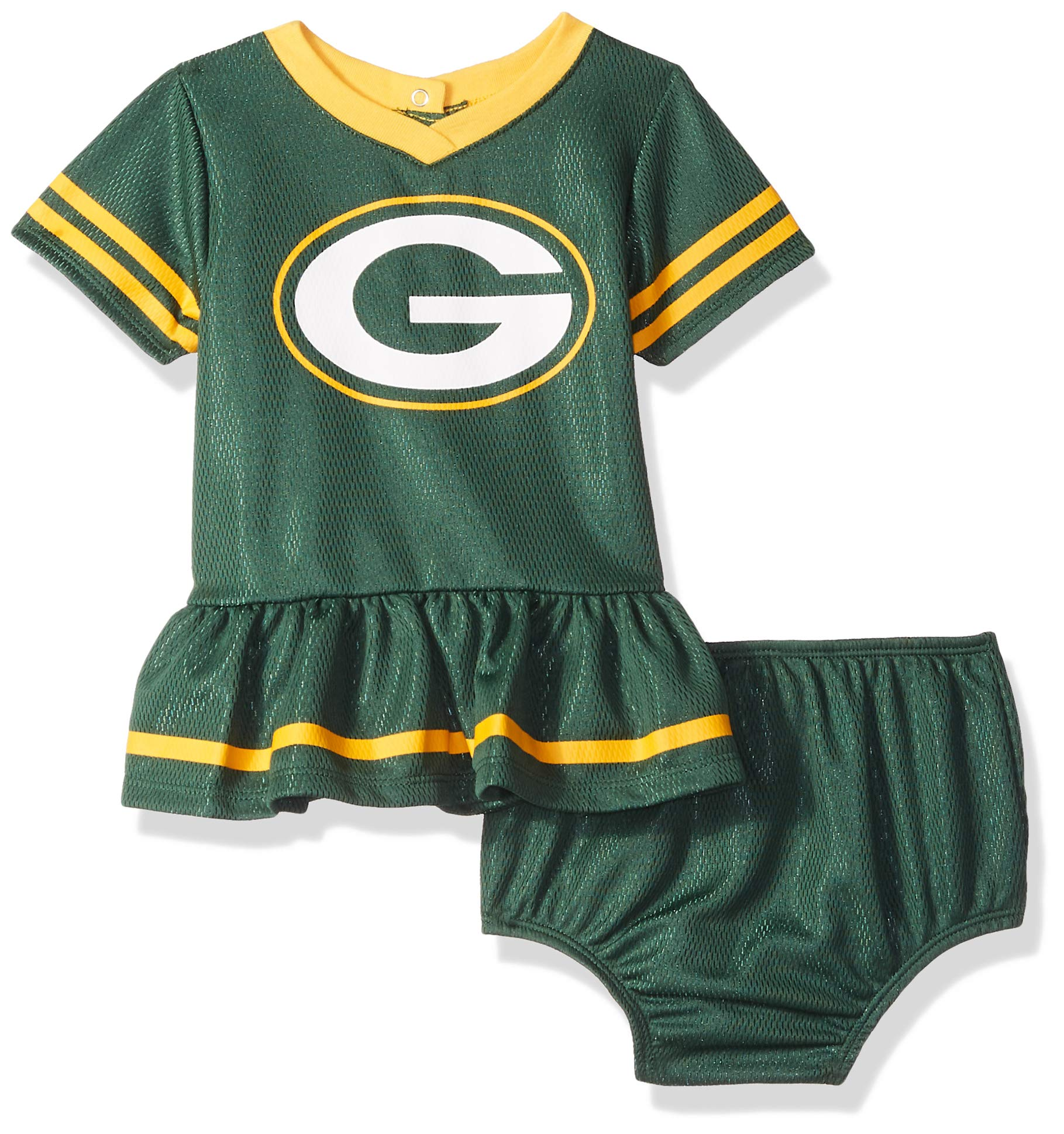 c9ca67d1e7cb Gerber Childrenswear NFL Bay Packers Girls 2018Dazzle Dress & Panty,  Green,