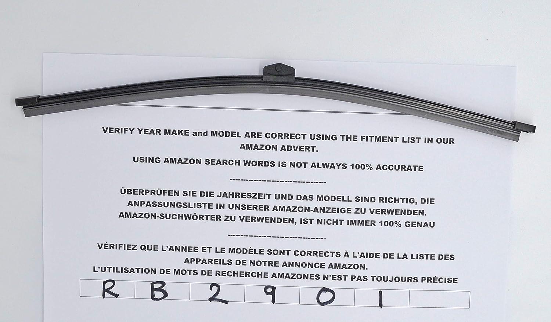 Limpiaparabrisas trasero de ajuste exacto RB2901: Amazon.es: Coche y moto
