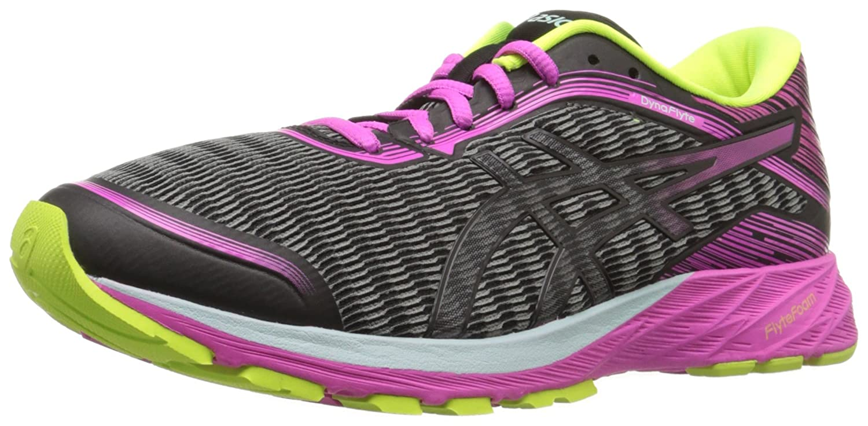 ASICS Women's Dynaflyte Running Shoe B017USPAUY 9.5 B(M) US|Black/Pink Glow/Safety Yellow