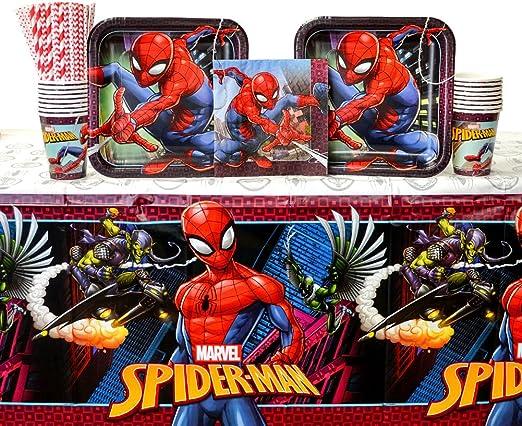 Lot de 16 serviettes de table Spiderman Far From Home
