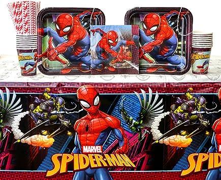 Amazon.com: Suministros para fiestas Spiderman, paquete para ...