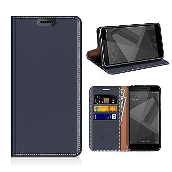 MOBESV Funda Cartera Xiaomi Redmi 4X, Funda Cuero Movil Xiaomi Redmi 4X Carcasa Case con Billetera/Soporte para Xiaomi Redmi 4X - Azul Oscuro