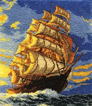 MCG Textiles 37696 Clipper Ship Latch Hook Rug Kit
