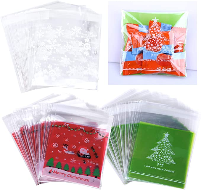 12//24X Christmas Drawstring Sweet Candy Cookie Biscuit Bags Party Empty Gift Bag