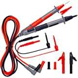 KAIWEETS Soft Silicone Electrician Test Leads Kit CAT III 1000V & CAT IV 600V with Alligator Clips and Needle Probe for…