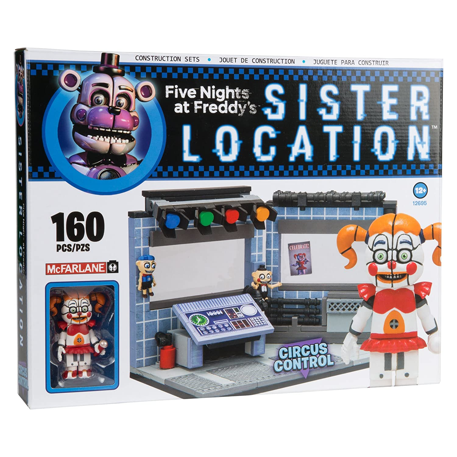 More five nights at freddy s construction sets coming soon - Amazon Com Mcfarlane Toys Five Nights At Freddy S Circus Control Construction Building Kit Toys Games