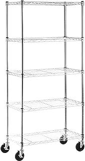 AmazonBasics 5 Shelf Shelving Unit On 4 Casters