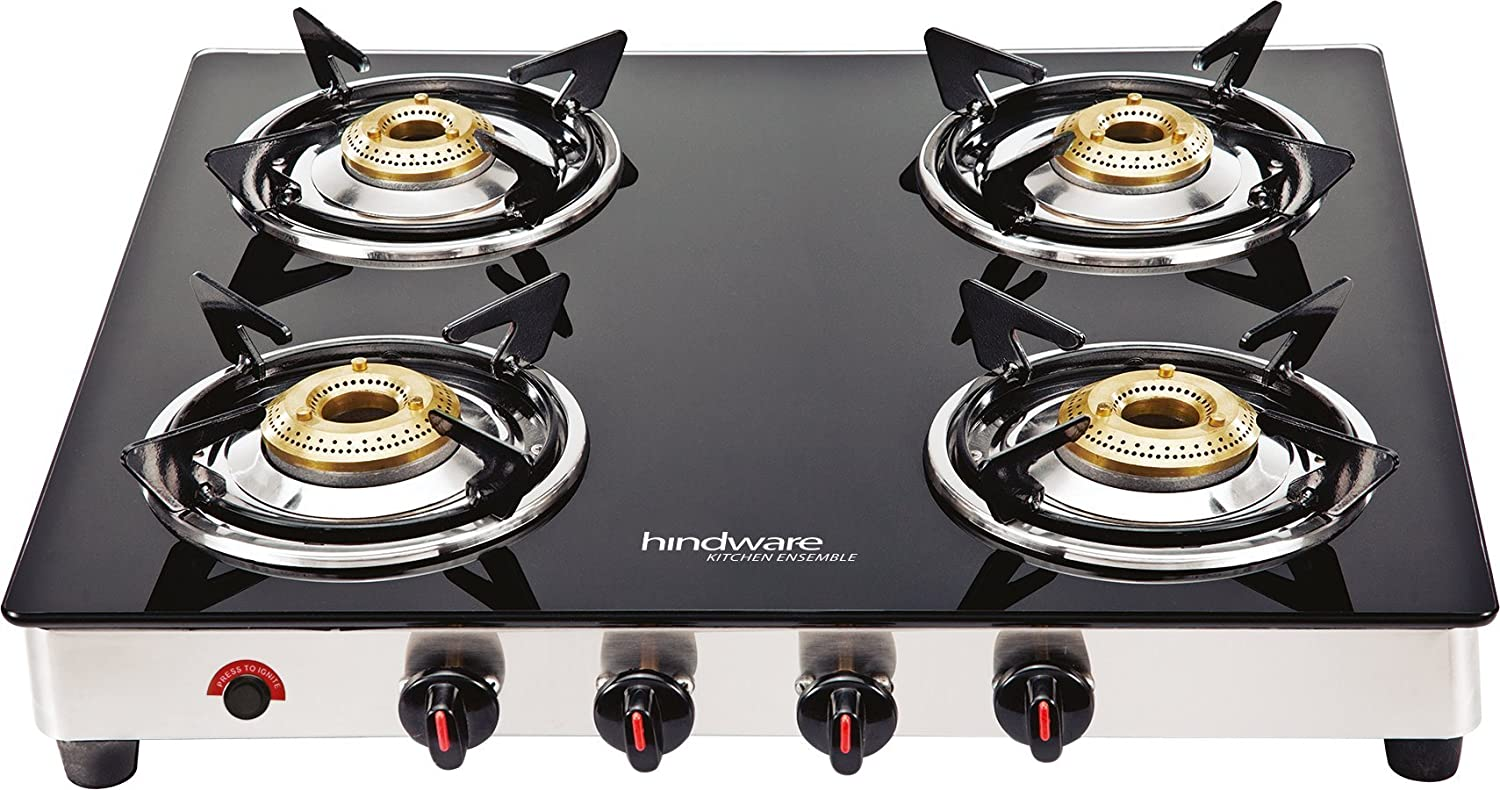 Hindware Neo GL 4B AI Stainless Steel 4 Burner Cooktop
