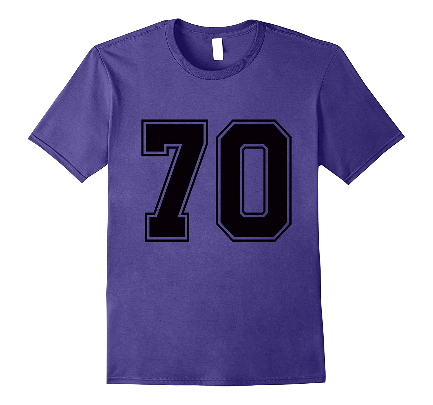#70 Number 70 Sports. Jersey T-shirt My Favorite Player #70-TH
