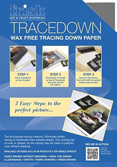 511481f183 Frisk Tracedown A4, Pack of 5, Graphite: Amazon.co.uk: Kitchen & Home