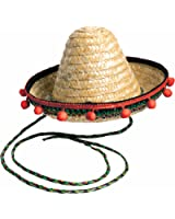 Forum Novelties Small Sombrero With Red Pom Poms