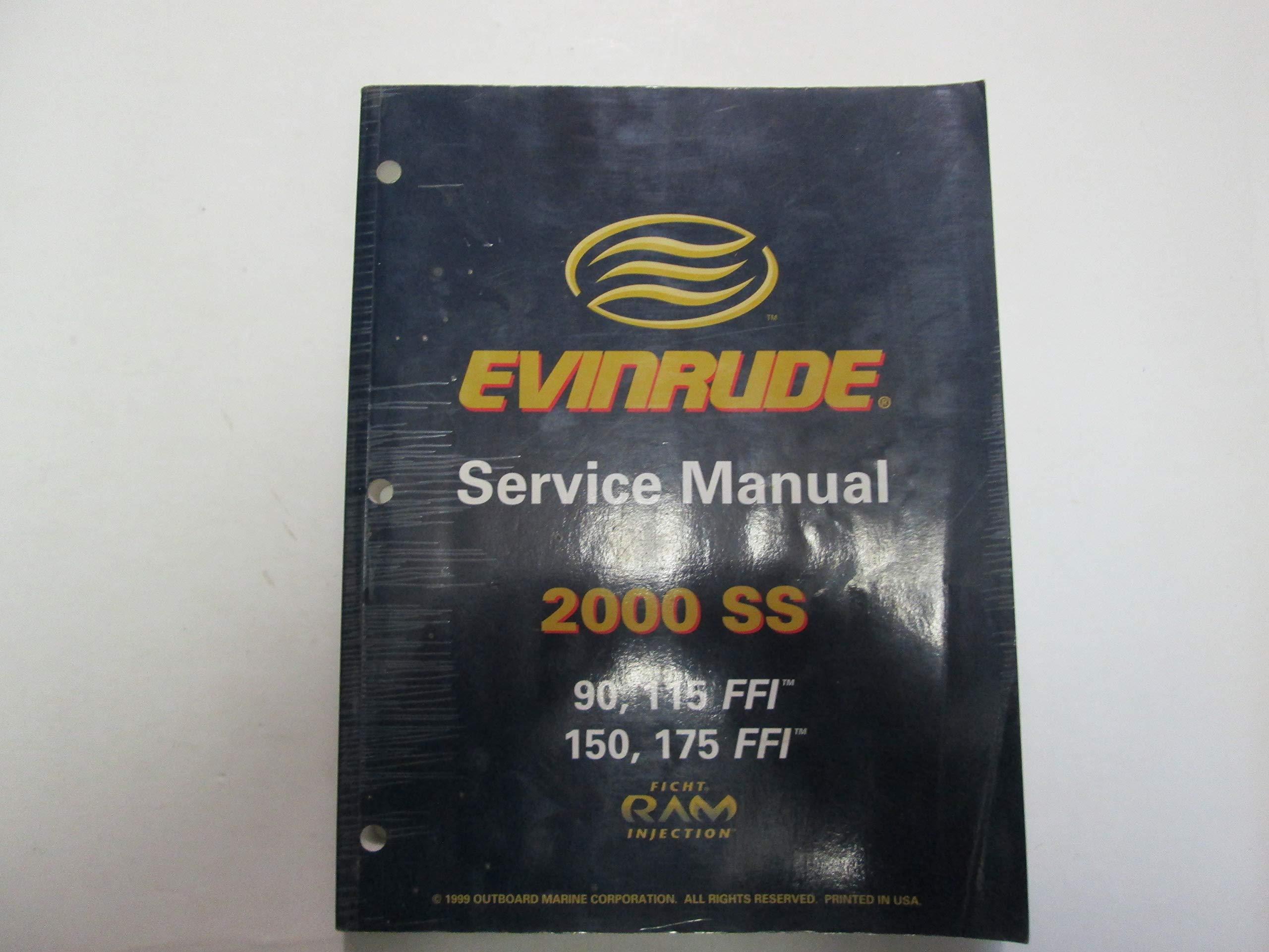 2000 Evinrude Ss 90 115 150 175 Ffi Service Repair Workshop Manual 787063 Ev Inc Amazon Com Books