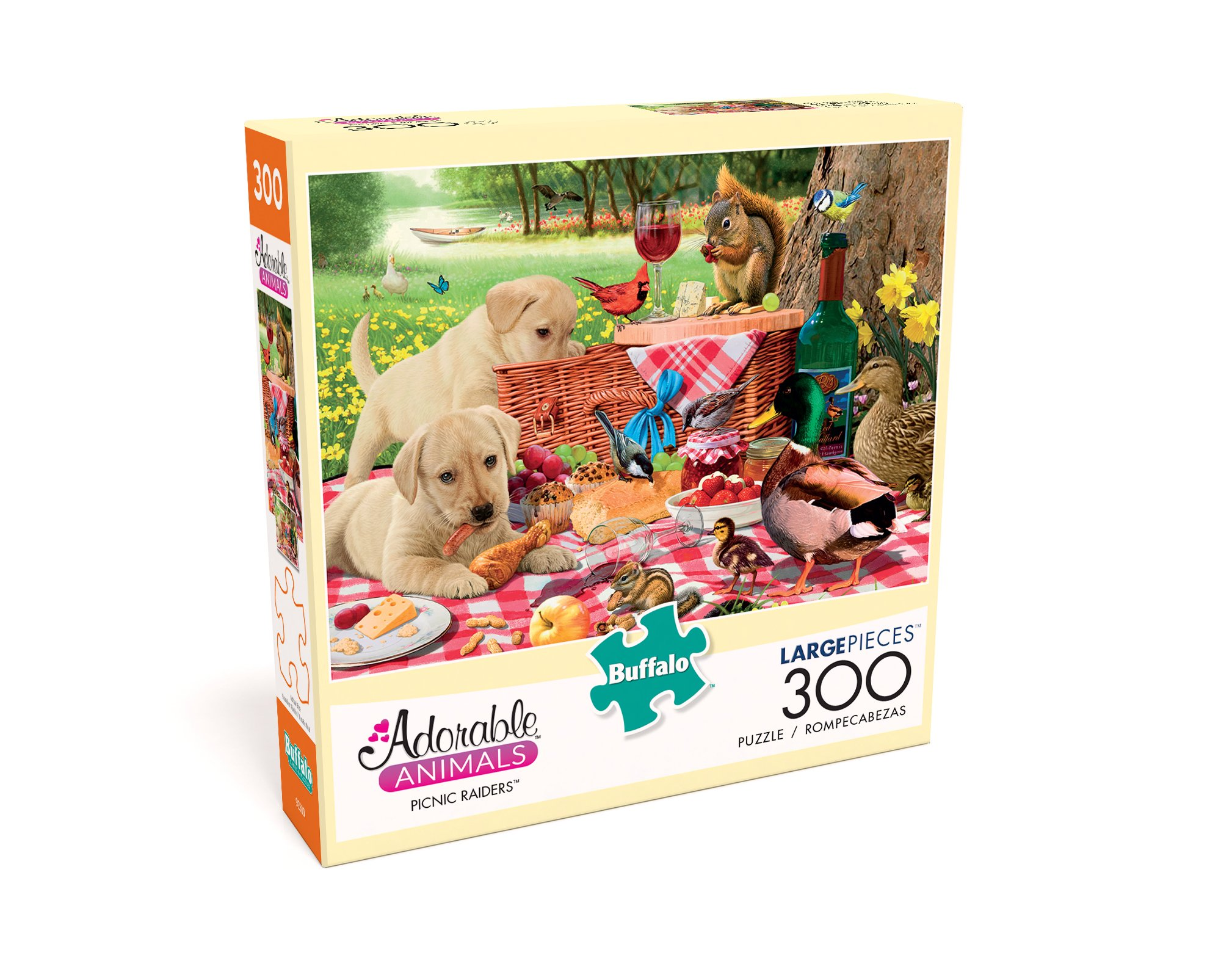 Buffalo Games - Adorable Animals - Picnic Raiders - 300 Large Piece Jigsaw Puzzle by Buffalo Games (Image #3)