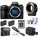 Nikon Z6 FX-Format Mirrorless Digital Camera Body, Complete Bundle with FTZ Mount Adapter, 64GB XQD Card, 2 Extra…