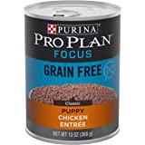 Purina Pro Plan Grain Free, High Protein Wet Puppy Food, FOCUS Classic Chicken Entree - (12) 13 oz. Cans