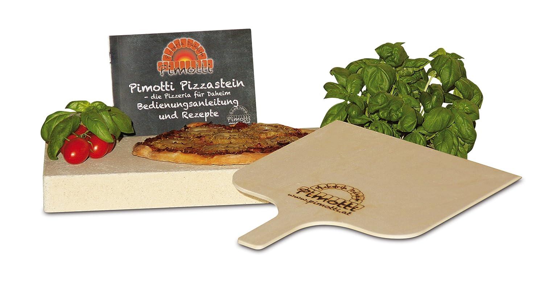 Pimotti 202//_ 004/Schamott Pierre /à pizza 5/cm avec pelle /à pizza et recettes fran/çais non garanti