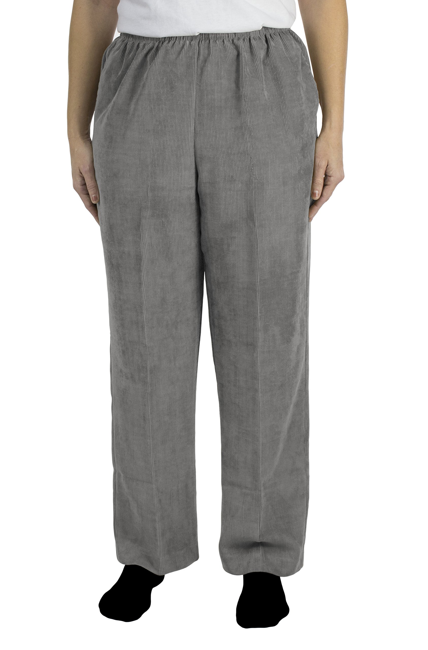 Alfred Dunner C4 Classics Missy Style 06101 Proportioned Medium Pant Grey Size 16