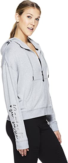 Hooded Activewear Workout /& Yoga Sweater Gaiam Womens Full Zip Up Crop Jacket
