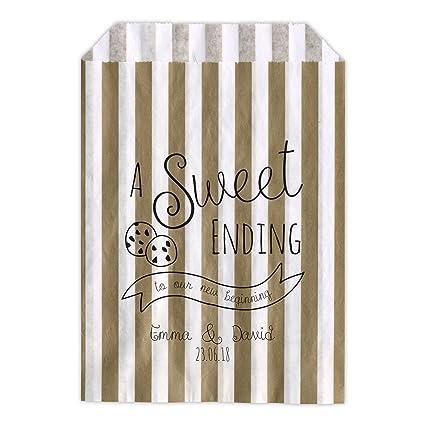 Personalizado boda dulces bolsas carro de un dulce final Cookie Bar Candy Favor de la boda