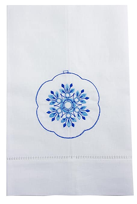 Fancy adorno bordado toalla de té de lino colección