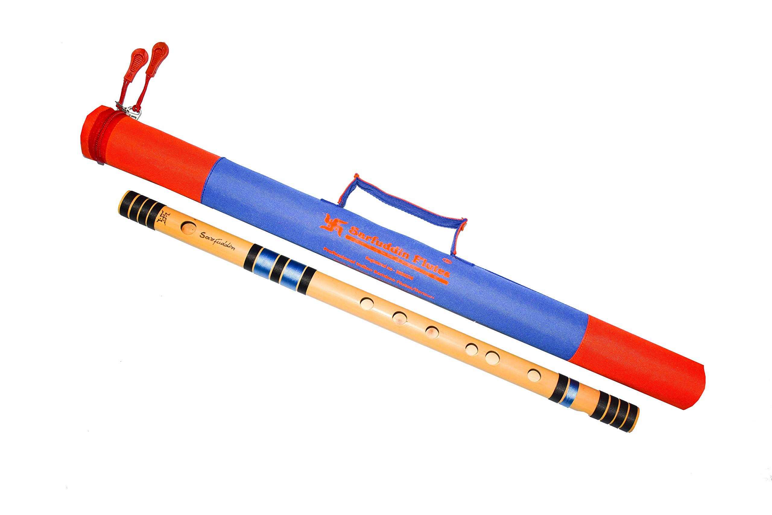 Sarfuddin Flutes, Scale C Sharp Medium 18 Inches Bamboo Flutes/Bansuri. with carry bag FREE. product image