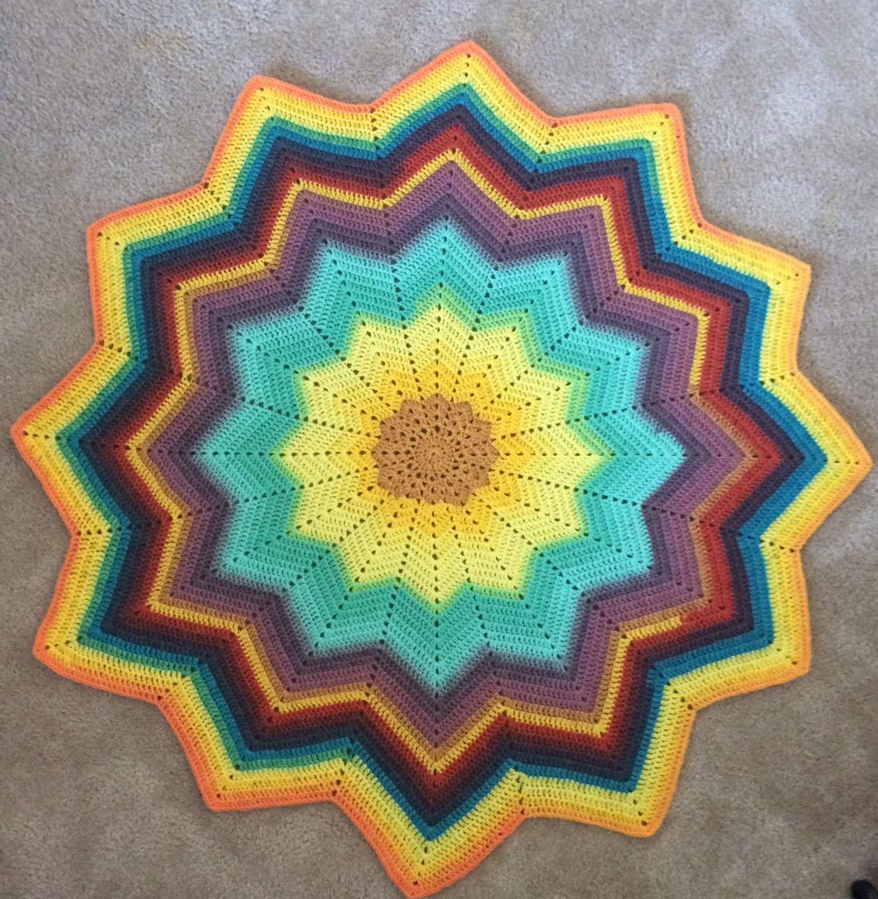 Amazon.com Sunburst Ripple Star Baby Blanket   Yellow   Green 12 ...
