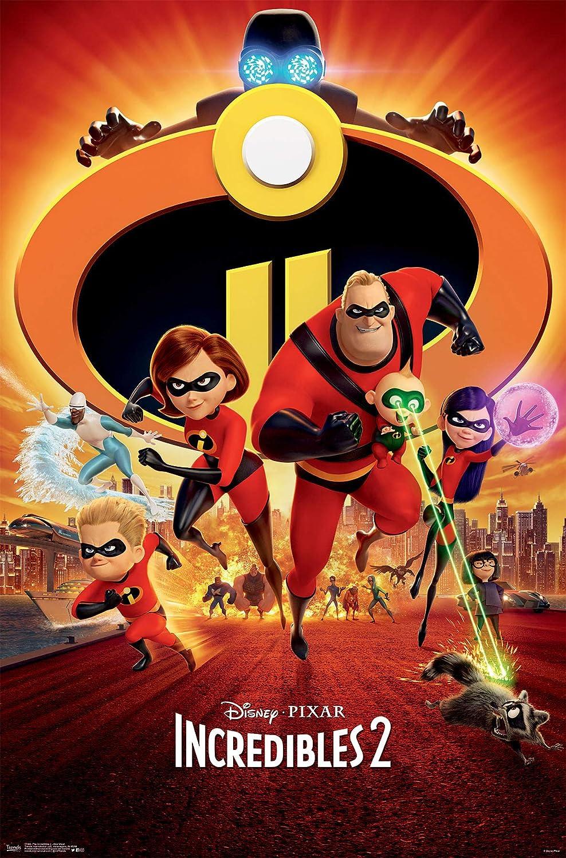 "Trends International Disney Pixar The Incredibles 2 - One Sheet Wall Poster, 22.375"" x 34"", Unframed Version"