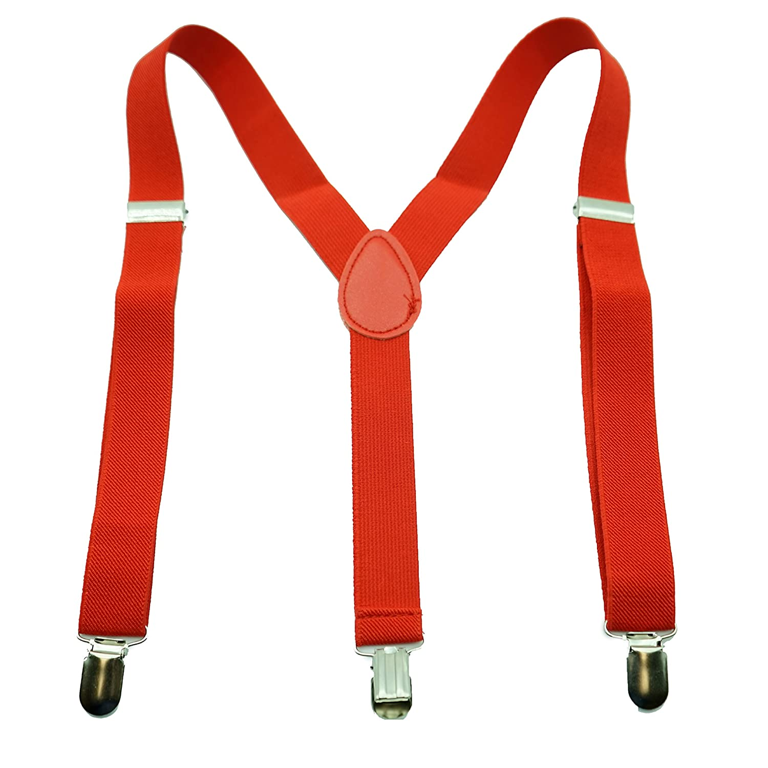 Suspenders For Kids - Boys Girls Comfortable Solid Color Y-Back Style Suspender by Action Ward