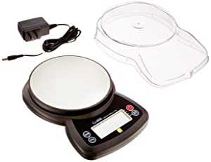 Jennings CJ-4000 Compact Digital Weigh Scale 4000g x 0.5g PCS JScale Black AC Adapter