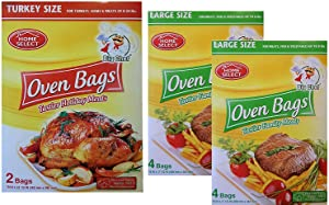 Large Oven Cooking Bags for Meats, Seafood and Vegetables, 2 Turkey Size & 8 Large Size