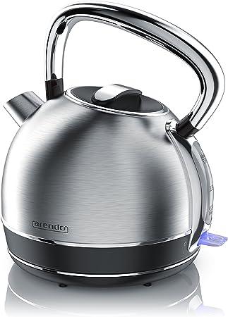 Arendo bouilloire bouilloire en acier inoxydable rétro dans le style vintage Max 2200 Watt . Anti Replaceable échelle Capacité maximum 1,7