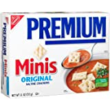 Premium Mini Saltine Crackers, 11 Ounce Boxes (Pack of 3)