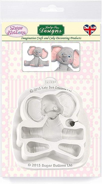 Safari Animals Silicone Mould Elephant Fondant Cupcake Cake Topper Decor LD