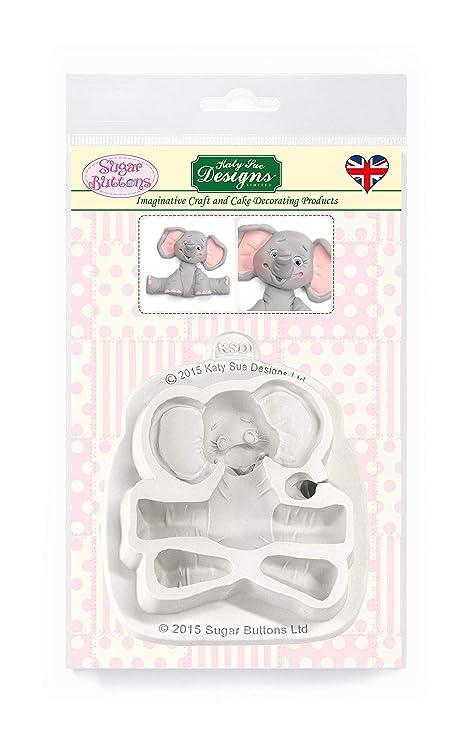 Amazon.com: Azúcar botones molde – Bebé elefante: Kitchen ...