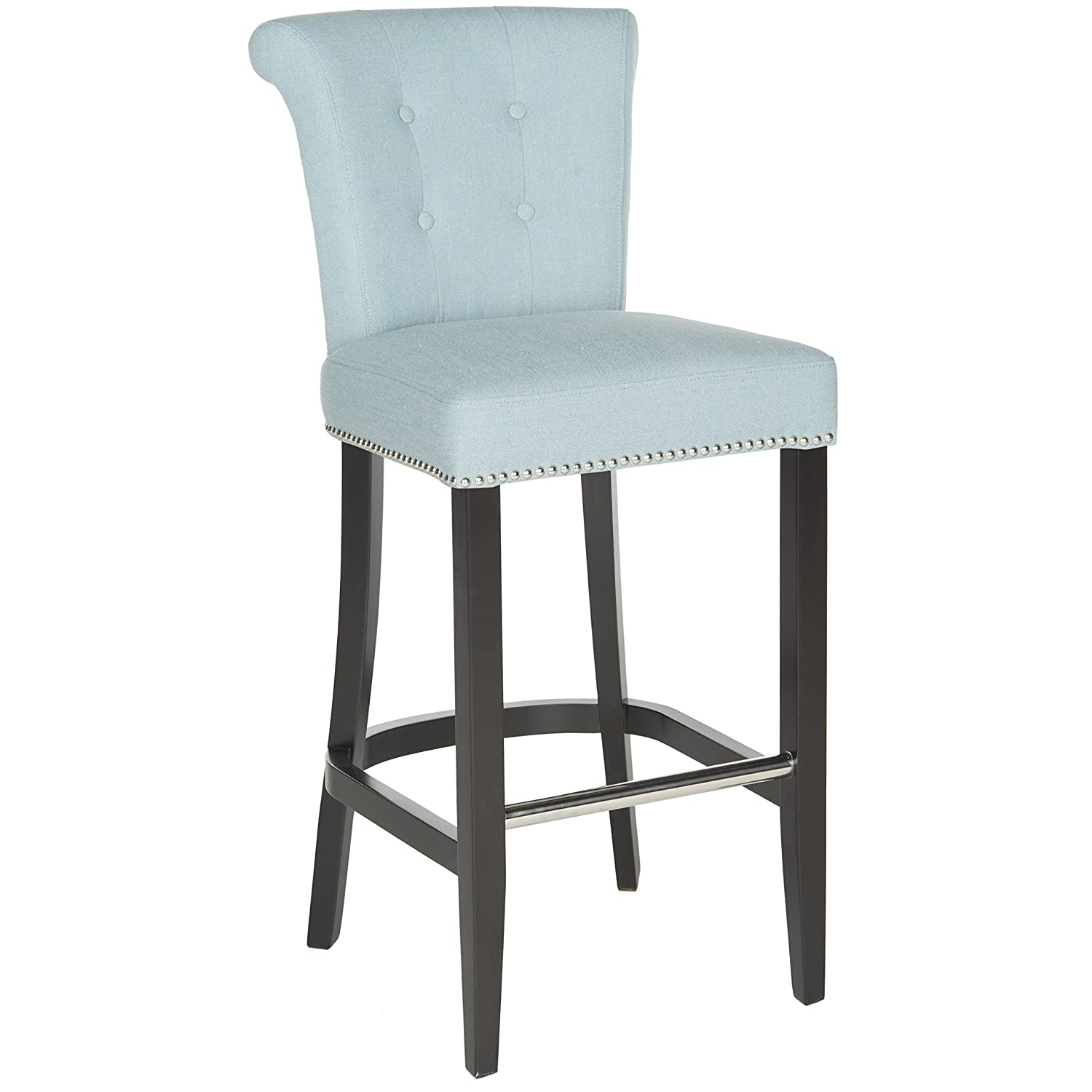 Marvelous Safavieh Hudson Collection Addo Ring Sky Blue And Espresso 29 7 Inch Bar Stool Lamtechconsult Wood Chair Design Ideas Lamtechconsultcom