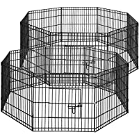 i.Pet 2X 24 8 Panel Pet Dog Playpen Puppy Exercise Cage Enclosure Fence Play Pen