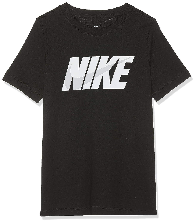 Nike Jungen B NSW Tee Swoosh Block T-Shirt L Black//White