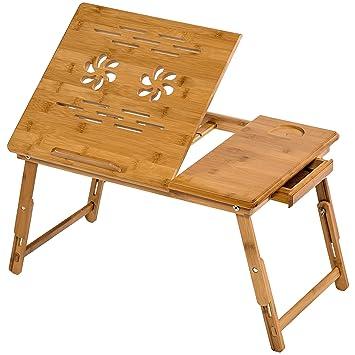 En Avec Pc Table Pliable Tablet Bambou De TiroirNo401653 Lit Portable Notebook Pour Tectake Modèles55x35cm Diverses Ipad SUMqzGVp