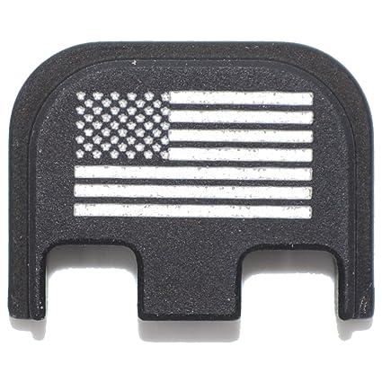 Tactical Gear Junkie USA Flag Rear Slide Back Plate Engraved for Glock Gen 5
