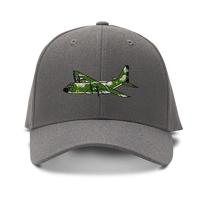 a6cd65019e6 Image Unavailable. Image not available for. Color  C-130 Hercules Military  Plane Embroidery Embroidered Adjustable Hat ...