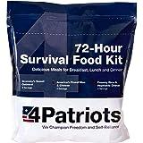 4Patriots Emergency Food Supply - 72-Hour Survival Kit - 25-Year Shelf Life - 16 Servings
