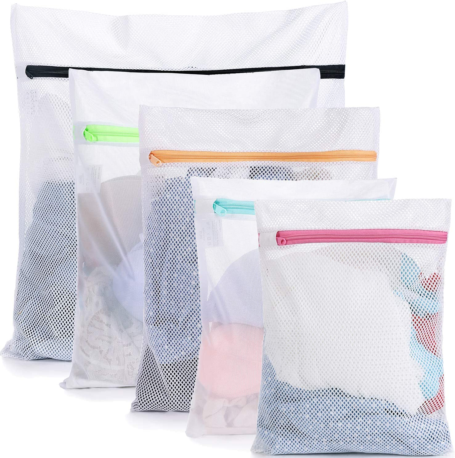 BAGAIL Mesh Laundry Bags for,Blouse, Hosiery, Stocking, Underwear, Bra Lingerie, Travel Laundry Bag (5 Set-New)